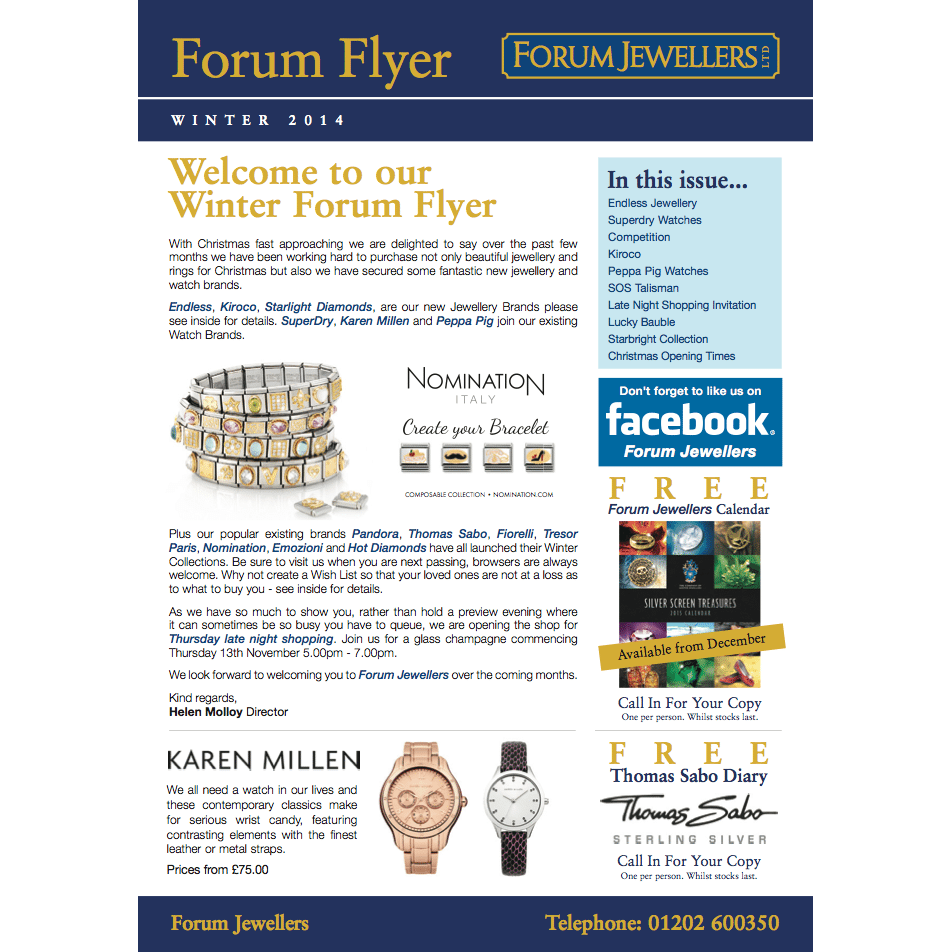 2014 Winter Forum Jewellers Flyer