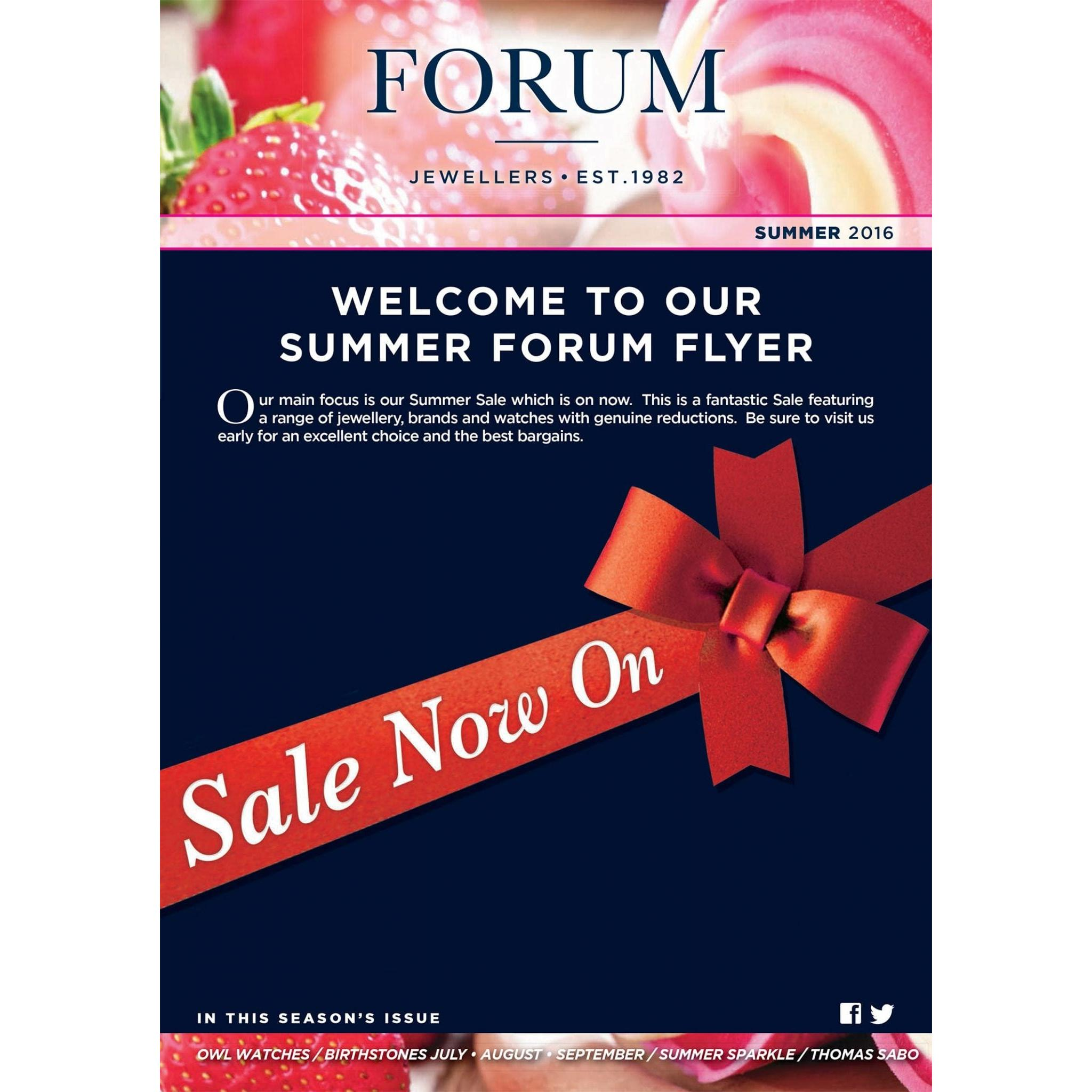 Forum jewellers Poole newsletter