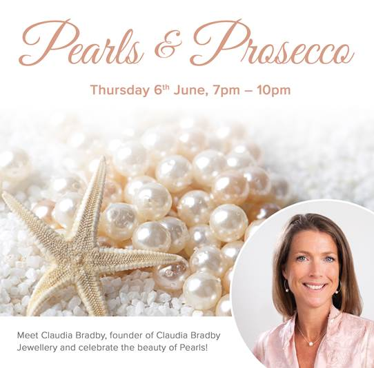 An Evening of Pearls & Prosecco with Claudia Bradby