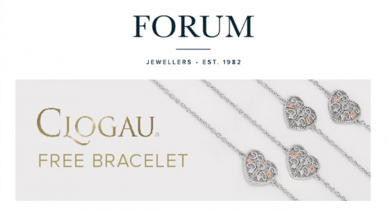 Free Clogau Bracelet when you spend £129 at our in-store event