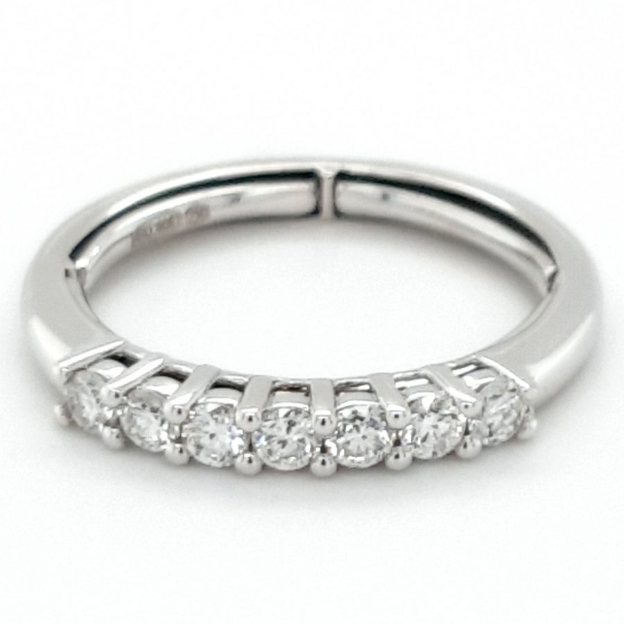 18ct White Gold Adjustable Fit Eternity Ring 0.50ct
