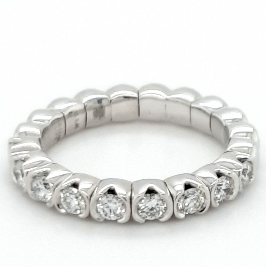 18ct White Gold Diamond Eternity Ring 0.46ct