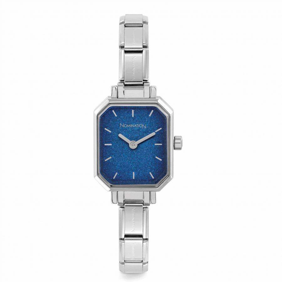 Nomination steel watch glitter blue dial