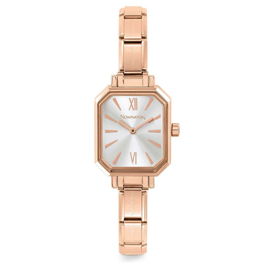 Nomination watch rose gold plated with silver dial