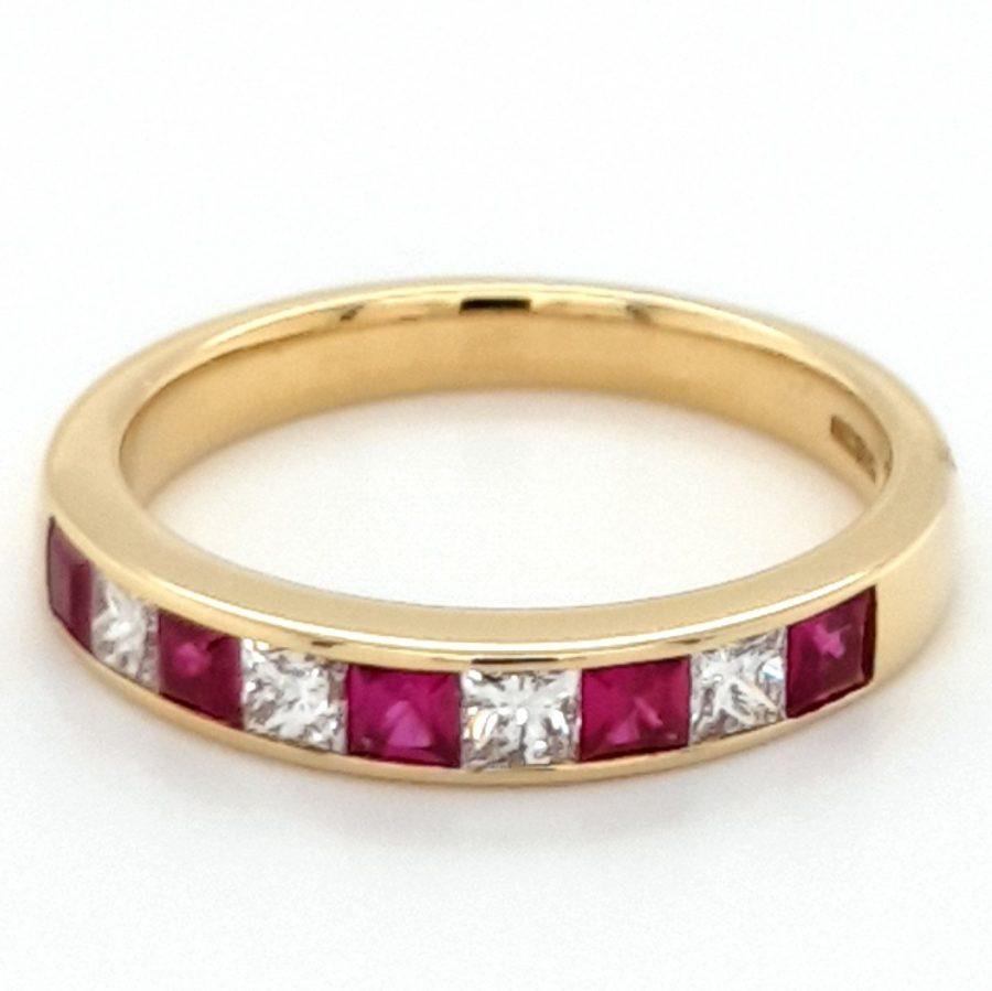 18ct Gold Ruby & Diamond Eternity Ring