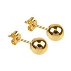 9ct Gold 5mm Ball Studs