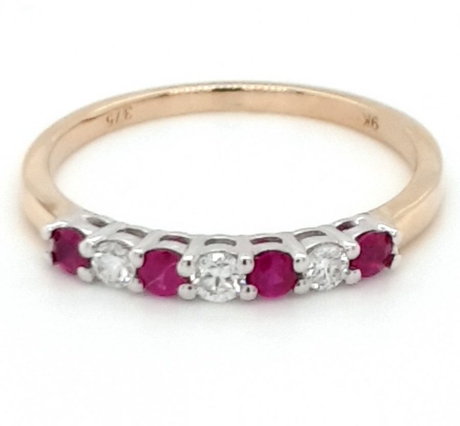 9ct Gold Ruby and Diamond Eternity Ring