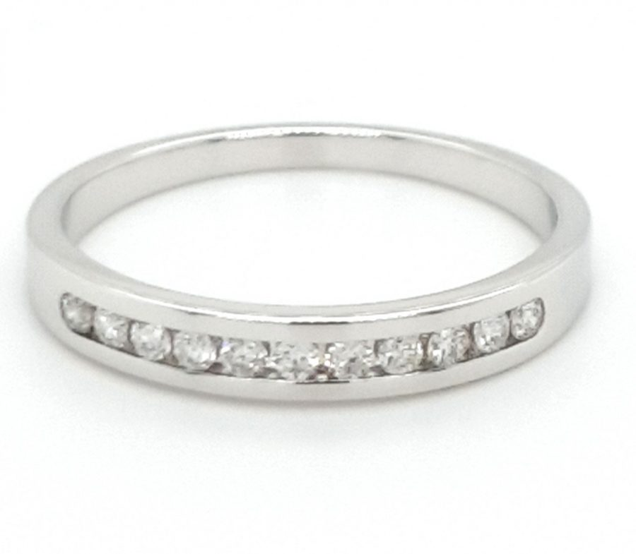 9ct White Gold Diamond Eternity Ring P