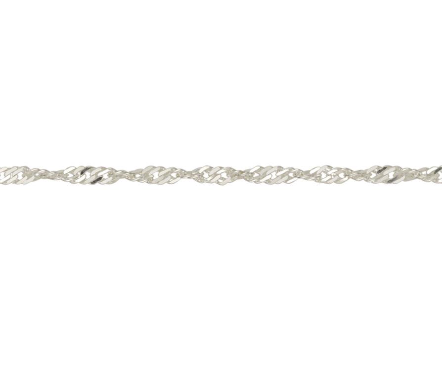 Silver Twisted Curb Bracelet