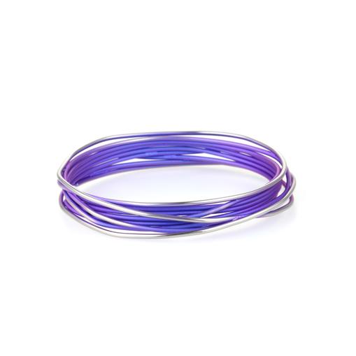 Ti2 Titanium Chaos Purple Bangle