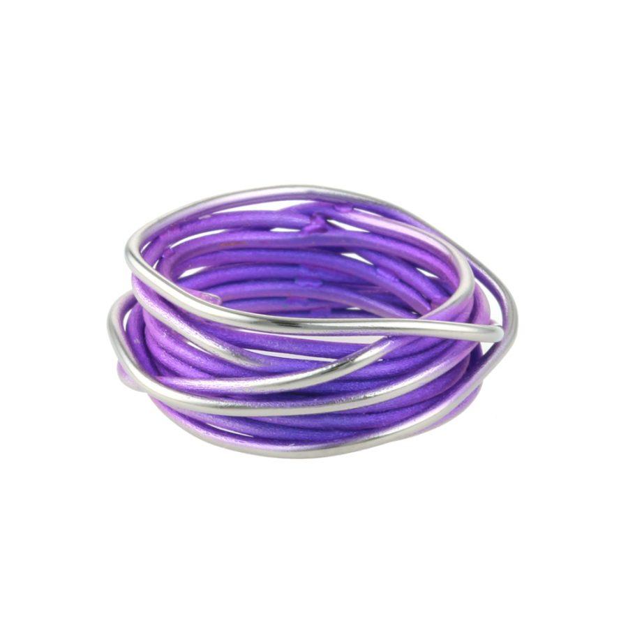 Titanium Chaos Purple Ring