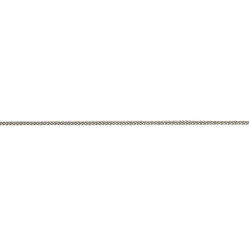 9ct White Gold Curb Chain 18 inch