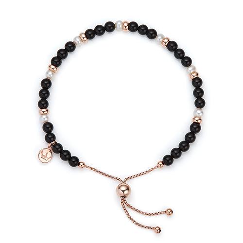 Jersey Pearl Sky Bracelet Bar Black Agate