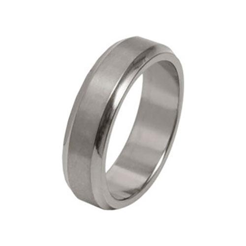 Titanium Concave Matte Wedding Ring