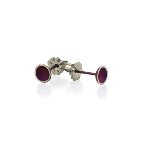 Ti2 Titanium 6mm Domed Stud Mulberry Earrings