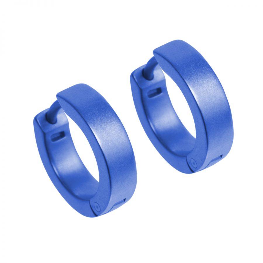 Ti2 Titanium Dark Blue Hoop Earrings