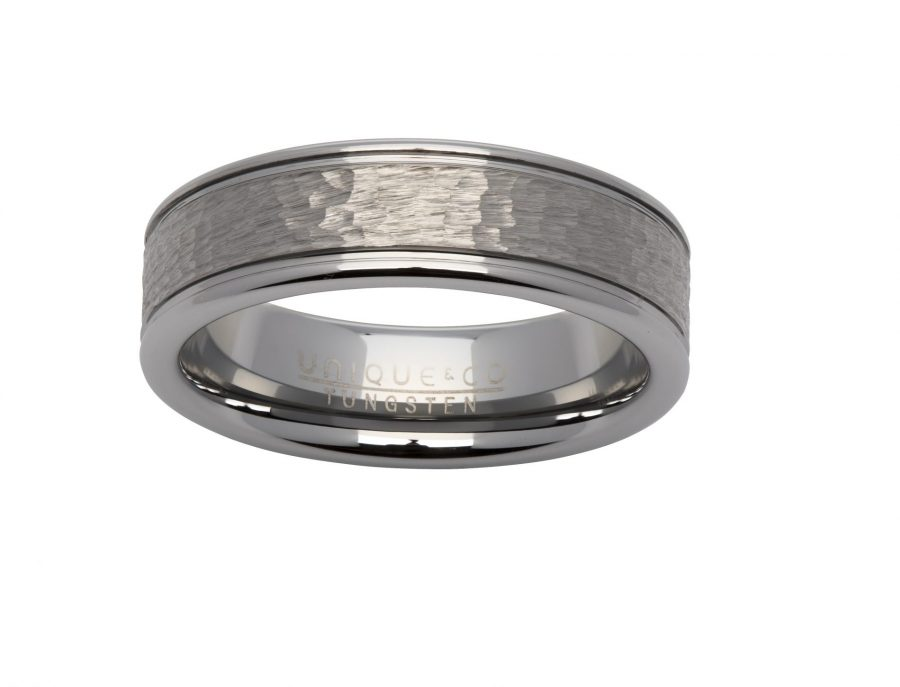 Unique Gents Tungsten Ring Size 62