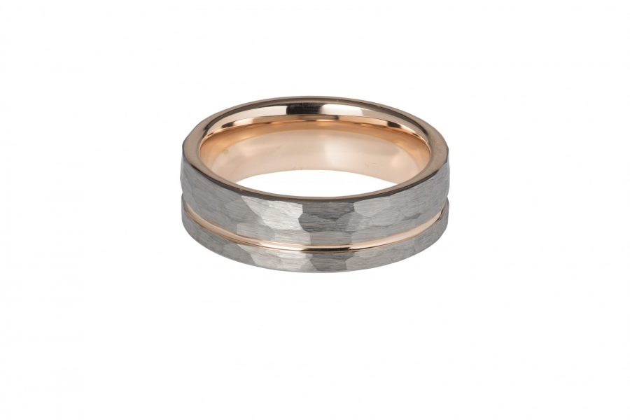 Unique Gents Tungsten Carbide Hammer Ring Size 64