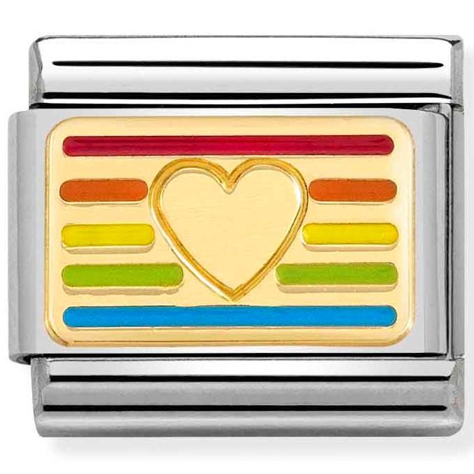 Nomination Link Rainbow Heart Flag
