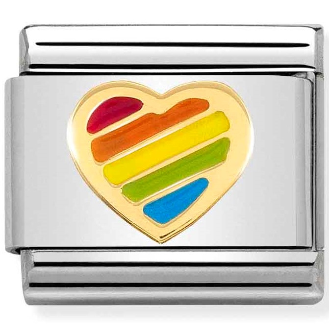 Nomination Link Rainbow Heart