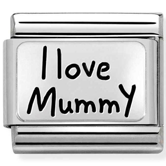Nomination Link I Love Mummy Silver