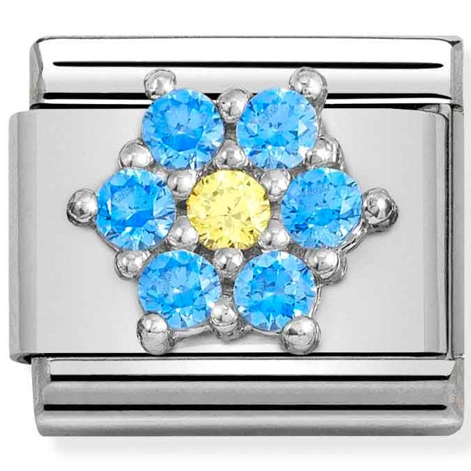 Nomination Link Blue and Yellow Flower