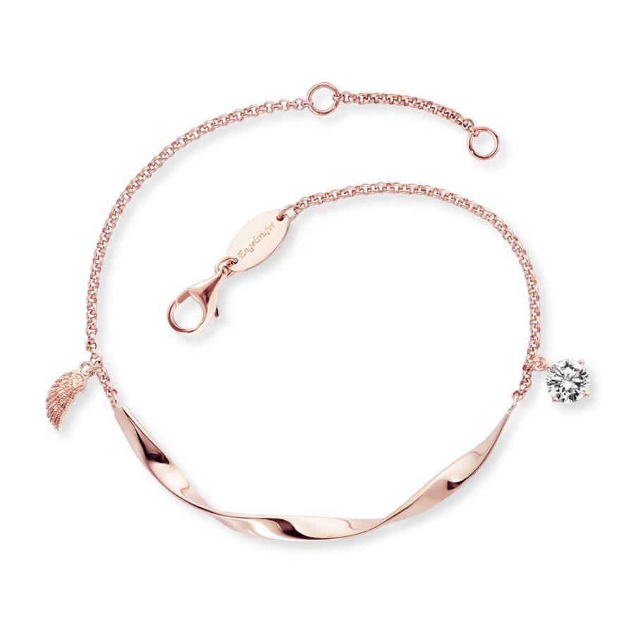 Angel Whisperer Rose Gold Plated Twist Wing Bracelet