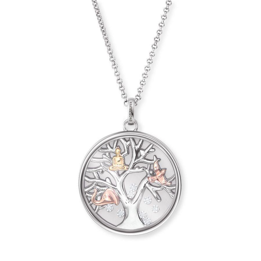 Angel Whisperer Silver Tree of Life Pendant & Chain