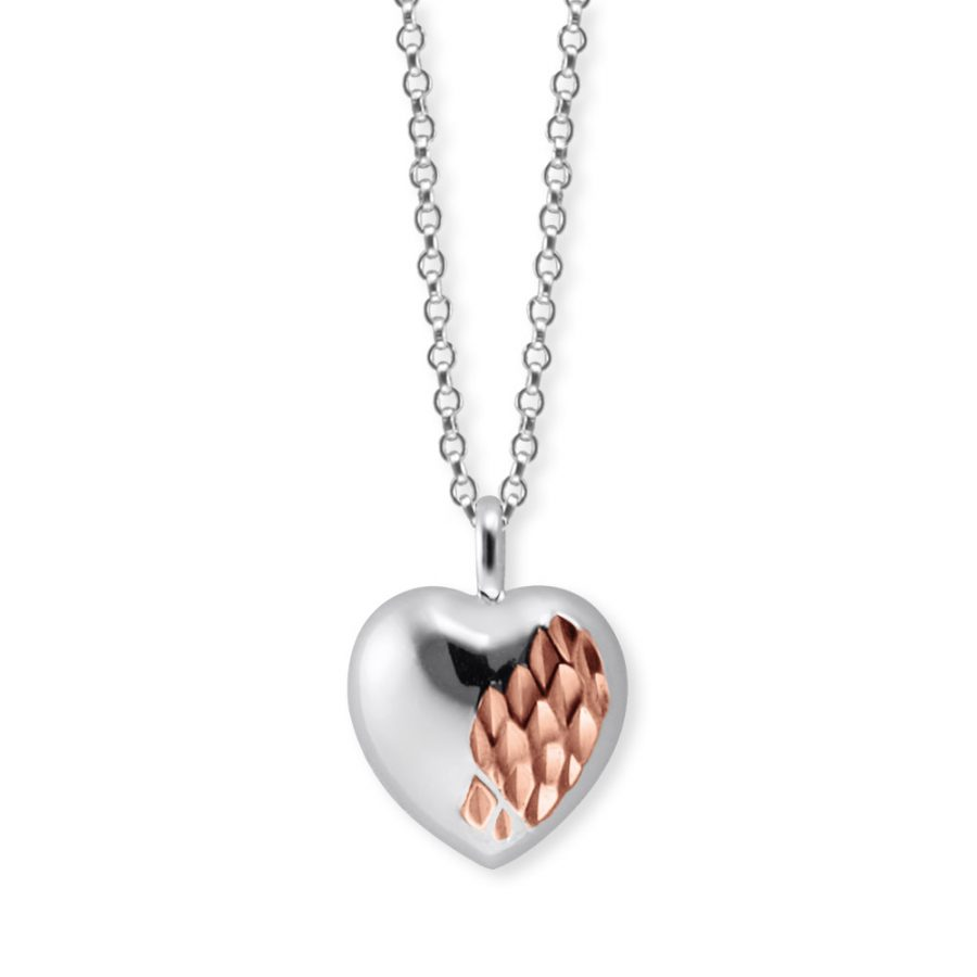 Angel Whisperer Silver Heart With Love Pendant and Chain