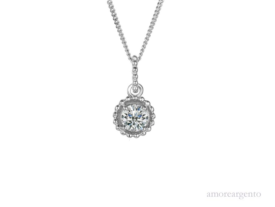 Amore Silver Peridot Pendant & Chain