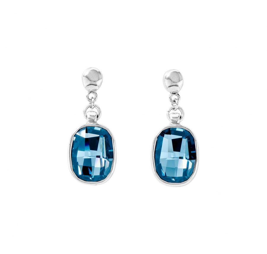 UNOde50 Light it Up Blue Crystal Drop Earrings