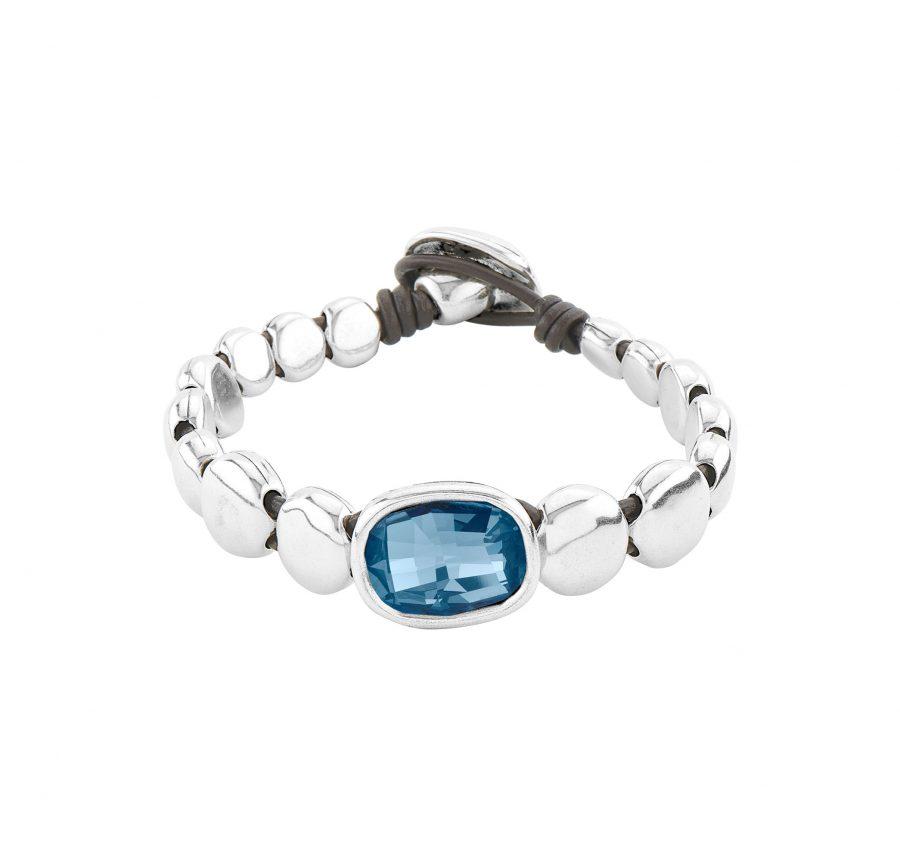 UNOde50 Magic Blue Crystal Bracelet