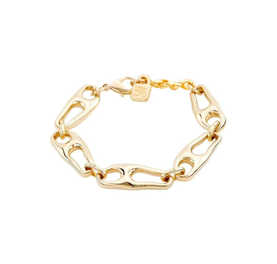 UNOde50 Connected Gold Plated Bracelet