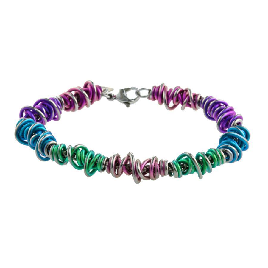 Ti2 Titanium Chaos Rainbow Bracelet