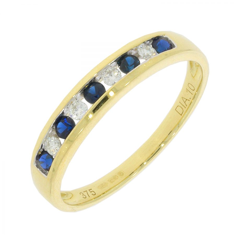 9ct Sapphire and Diamond Eternity Ring