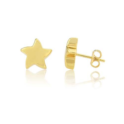 9ct Star Stud Earrings