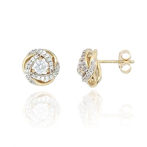 9ct Cubic Zirconia Stud Earrings