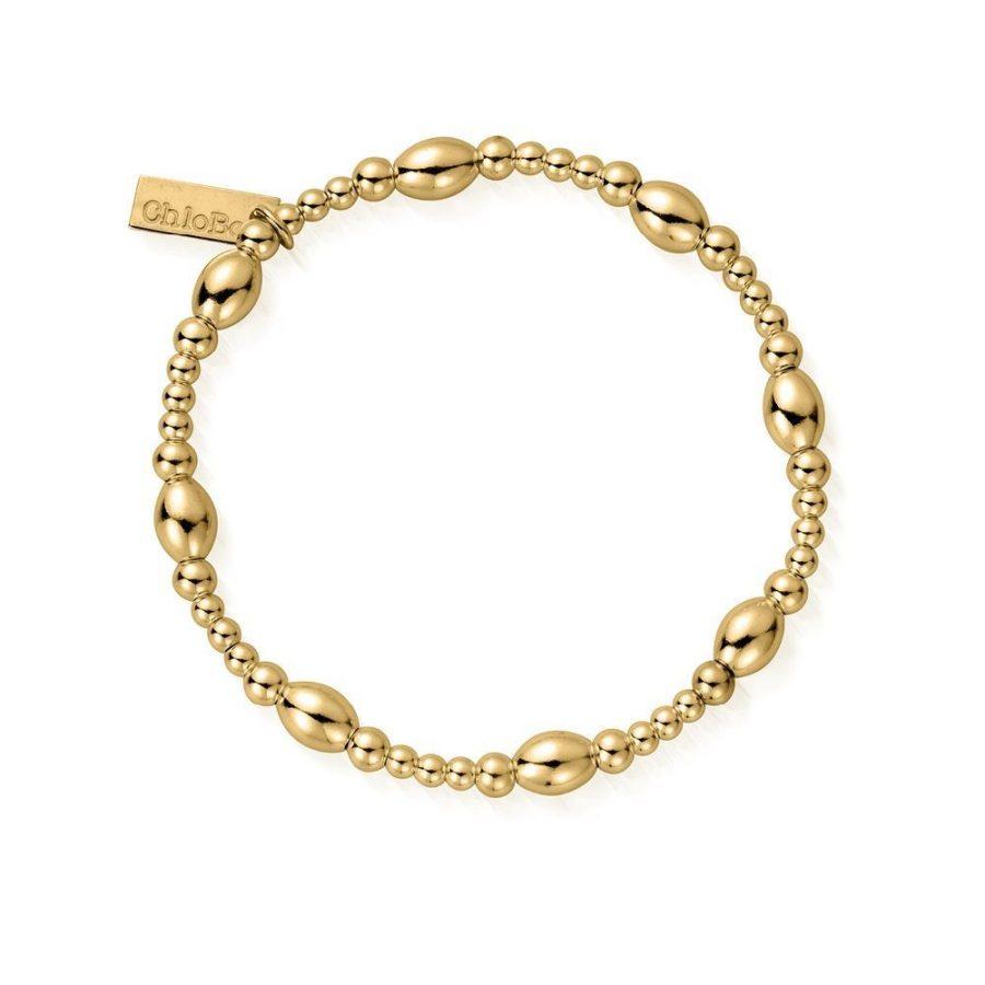 ChloBo Silver Gold Plated Oval Bracelet