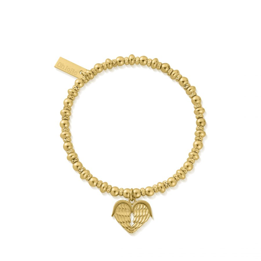 ChloBo Silver Gold Plated Sparkle Heart Bracelet