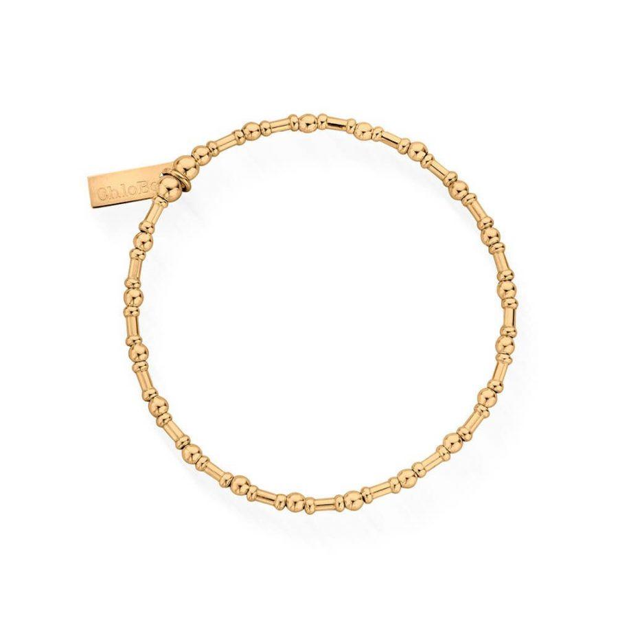 ChloBo Silver Gold Plated Rhythm of Water Bracelet