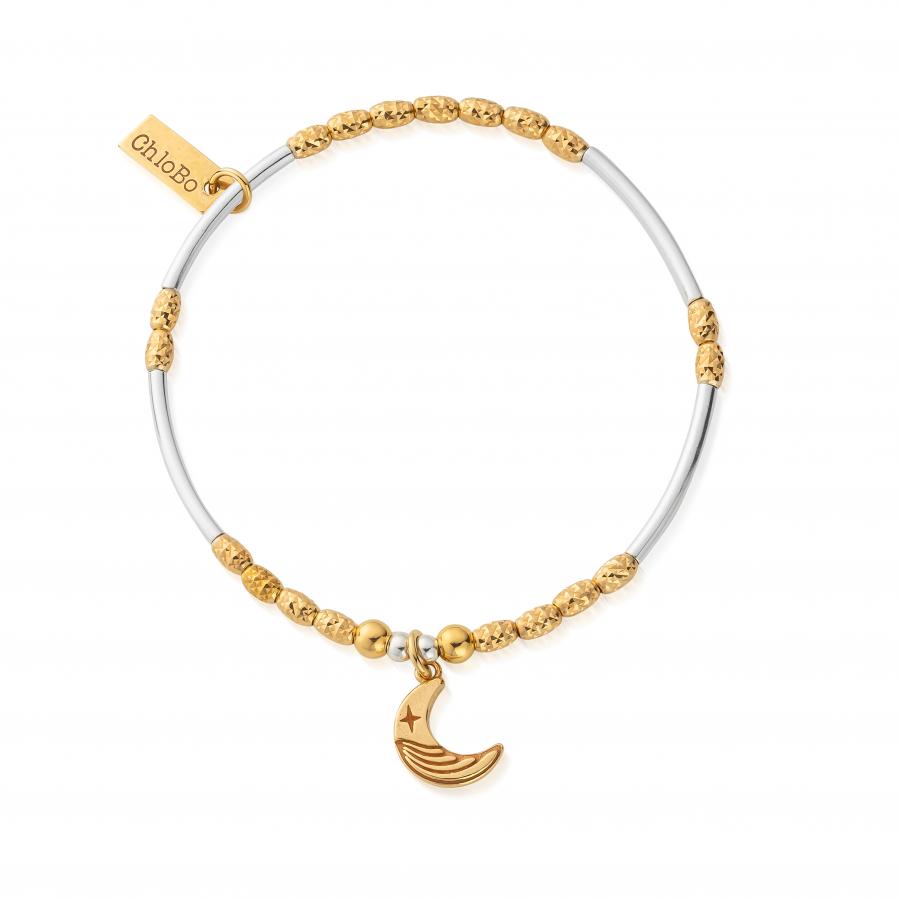 ChloBo Silver Gold Plated Luna Moon Bracelet