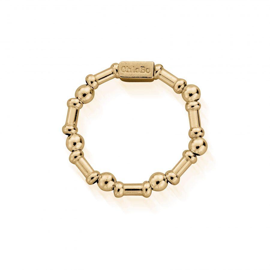 Chlobo Silver Gold Plated Rhythm of Water Ring