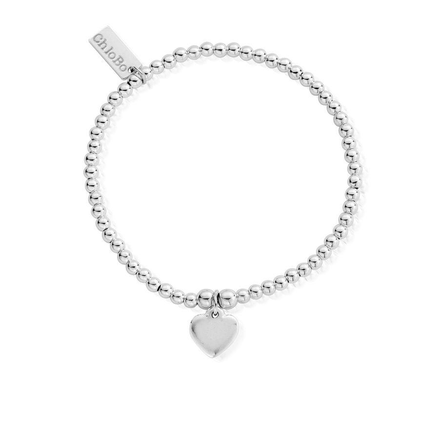 ChloBo Silver Cute Charm Heart Bracelet