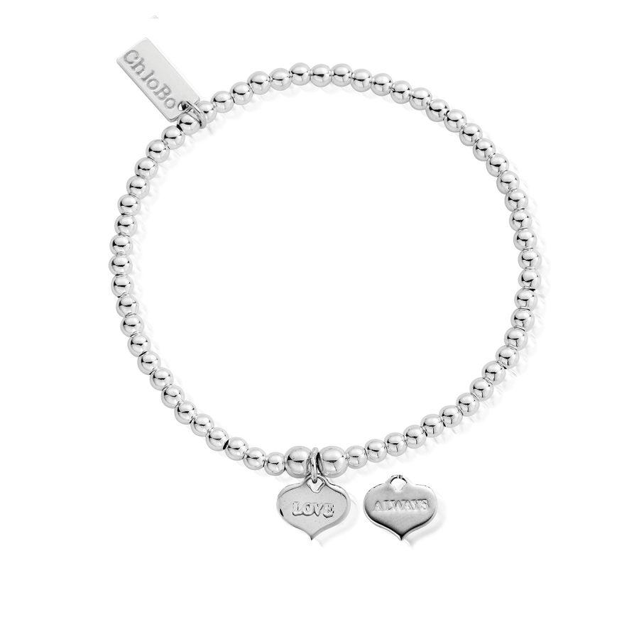 ChloBo Silver Cute Charm Love Always Bracelet