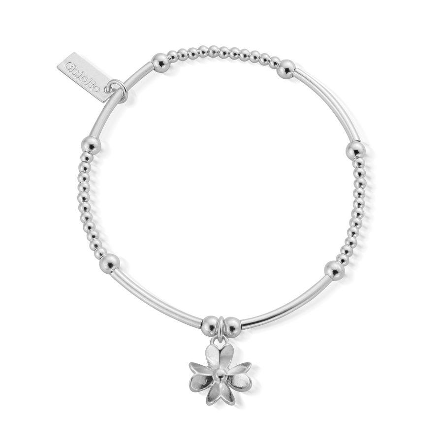 ChloBo Silver Cute Mini 3D Flower Bracelet