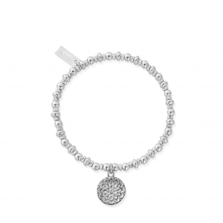 ChloBo Silver Sparkle Moonflower Bracelet