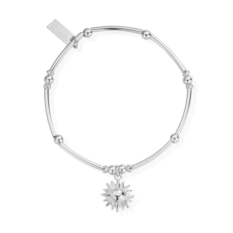 ChloBo Silver Mini Noodle Ball Sun Bracelet