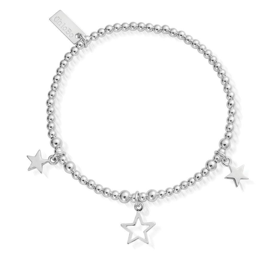 ChloBo Silver Triple Star Bracelet