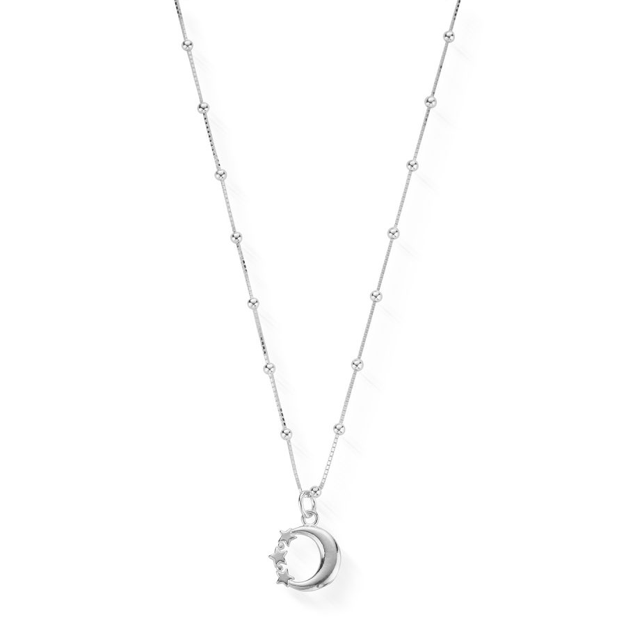 ChloBo Silver Moon and Stars Necklace