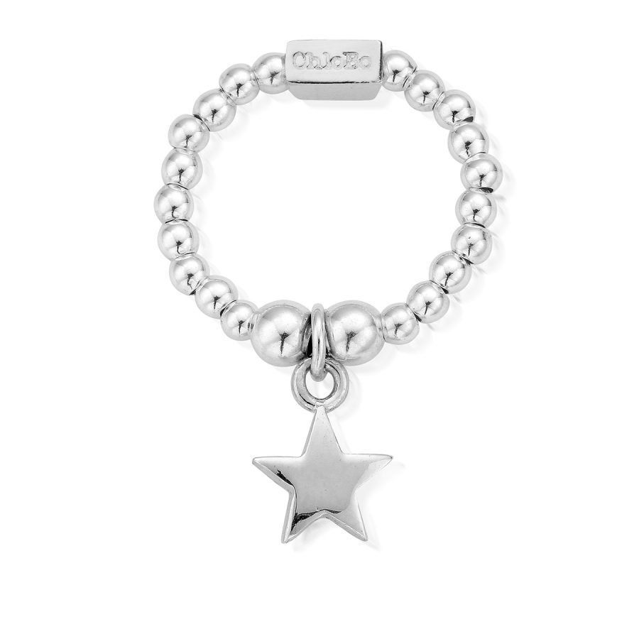 Chlobo Silver Mini Star Ring